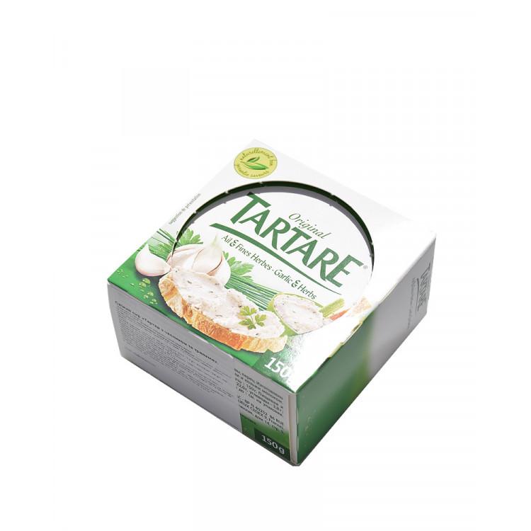 Сыр свежий тартар с часноком и травами 150 г